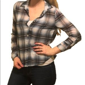 About a Girl | Flannel Button Down Shirt